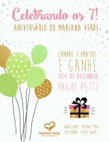 Celebrando 7 anos de Mariana Verde compromoção!
